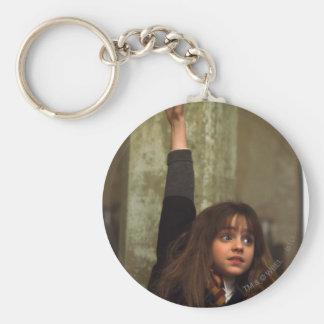 Hermione raises her hand basic round button key ring