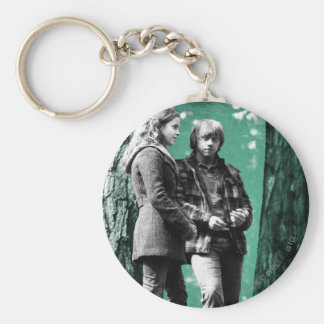 Hermione, Ron, and Harry 1 Basic Round Button Key Ring