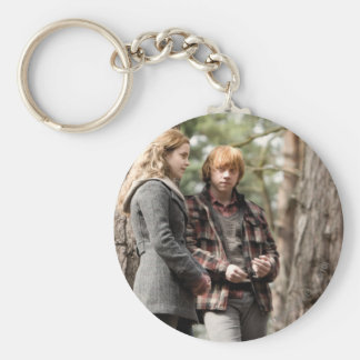 Hermione, Ron, and Harry 2 Basic Round Button Key Ring