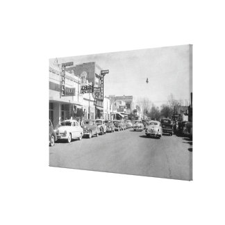 Hermiston, Oregon Main Street View Photograph Canvas Print