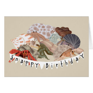 Hermit Crab Birthday Card