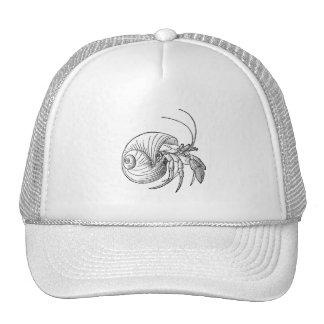 Hermit Crab Illustration (line art) Hat