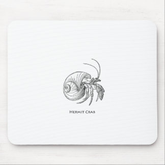 Hermit Crab Illustration line art Mouse Pads