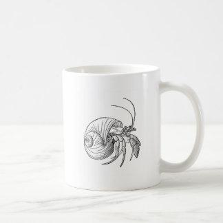 Hermit Crab Illustration (line art) Mug