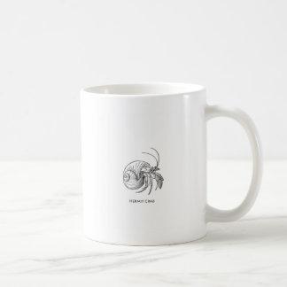 Hermit Crab Illustration (line art) Coffee Mugs