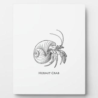 Hermit Crab Illustration (line art) Photo Plaques
