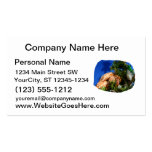 Hermit Crab in Tree blue background cutout Business Card