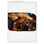 Hermit Crab on Ice Cubes Greeting Card