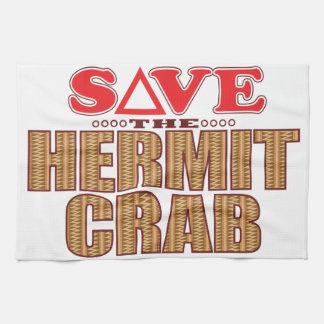 Hermit Crab Save Tea Towel