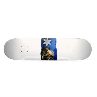 Hermit Crab Star Christmas Tree Design Skate Board Deck
