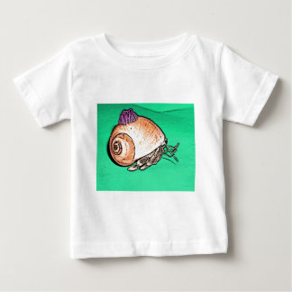 Hermit Crab with a Barnacle Shell Hat Baby T-Shirt