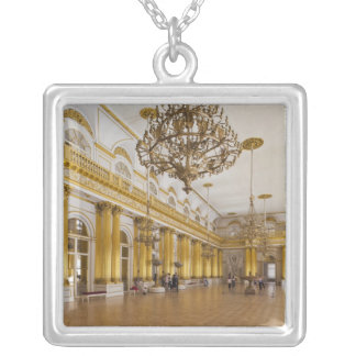 Hermitage Museum, Room 191, The Great Hall Silver Plated Necklace