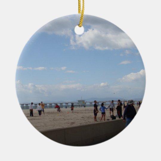 Hermosa Beach, California Christmas Ornament