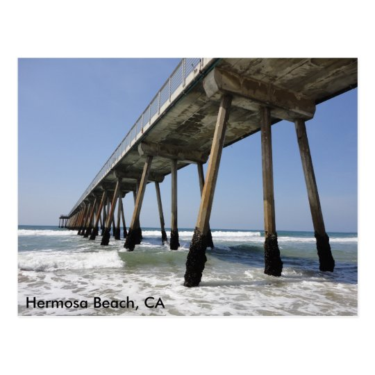 Hermosa Beach Pier Postcard