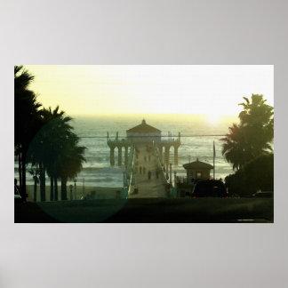 Hermosa Beach Sunset 36 x 22 Poster