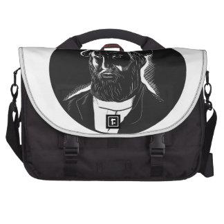 Hernan Cortes Conquistador Woodcut Laptop Messenger Bag