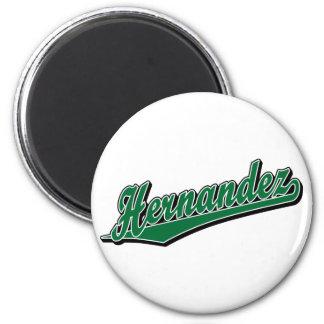 Hernandez in Green Refrigerator Magnet