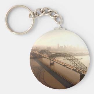 Hernando de Soto Bridge in Memphis Key Ring