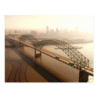 Hernando de Soto Bridge in Memphis Post Card