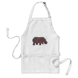 Hernando Stained Glass Hippo Standard Apron