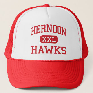 herndon - hawks - middle school - Herndon Virginia Trucker Hat