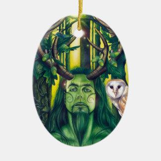 Herne the Hunter Ceramic Oval Decoration