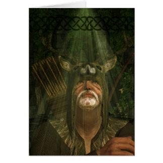 Herne The Hunter - Fantasy Art Greeting Card