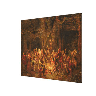 Herne's Oak from 'The Merry Wives of Windsor' by W Canvas Print