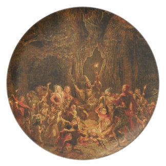 Herne's Oak from 'The Merry Wives of Windsor' by W Party Plate