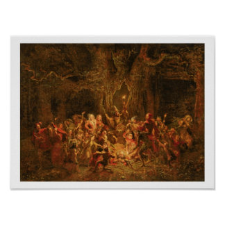 Herne's Oak from 'The Merry Wives of Windsor' by W Poster