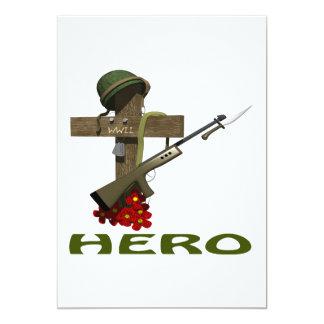 Hero 13 Cm X 18 Cm Invitation Card