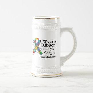 Hero - Autism Ribbon Beer Steins