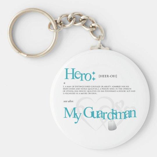 Hero Basic Round Button Key Ring