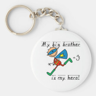 Hero Big Brother Tshirts and Gifts Basic Round Button Key Ring