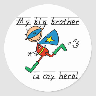 Hero Big Brother Tshirts and Gifts Classic Round Sticker