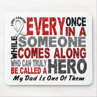 Hero Comes Along 1 Dad Lung Cancer Mouse Mat