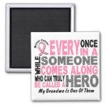 HERO COMES ALONG 1 Grandma BREAST CANCER T-Shirts