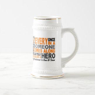 HERO COMES ALONG 1 Husband LEUKEMIA T-Shirts Mugs