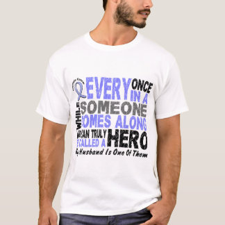 HERO COMES ALONG 1 Husband PROSTATE CANCER T-Shirt