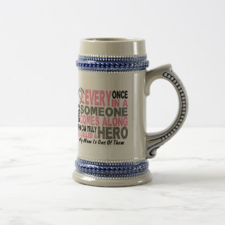 HERO COMES ALONG 1 Mom BREAST CANCER T-Shirts Coffee Mugs