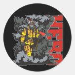 HERO Firefighter Round Sticker