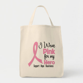 Hero - I Wear Pink - Breast Cancer Canvas Bag