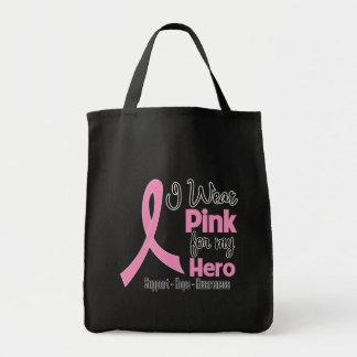 Hero - I Wear Pink - Breast Cancer Tote Bag