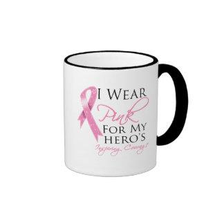 Hero Inspiring Courage Breast Cancer Mugs