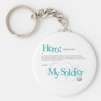 Hero: My Soldier Basic Round Button Key Ring