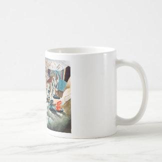 Hero on the way to the moon! coffee mug