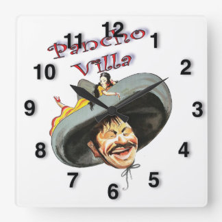 Hero Pancho Villa Square Wall Clock