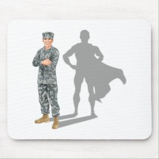 Hero soldier concept mousepad