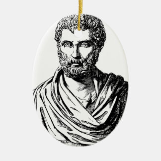 Herodotus bust Greek historian Christmas Ornament