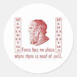 Herodotus Round Stickers